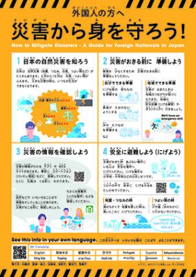 外国人のための減災ポイントやさしい日本語ポスター